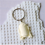 R2D2 BAG TAG - Star Wars inspired bag tag/keyring handmade in chalk white resin