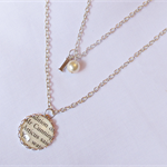 To Kill a Mockingbird Multilayer Necklace Pendant Beaded Initial Personalised