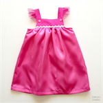 Girl's Pink Princess Dress - Size 2 - with Sparkly Heart Cape