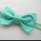 Classic Aqua bow stretch headband