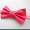 Hot pink bow stretch headband