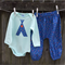 Boys harems and onesie set ,size 1. Cute tee pee applique.