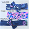 *Pink Floral Only* topknot headband