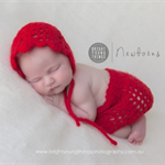 SALE  Skirt and Bonnet Set / Newborn Prop / Little Red Riding Hood