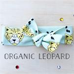 Organic Leopard Knit Topknot Headband