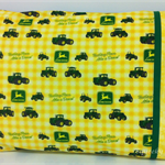 Tractor Pillowcase ~ OOAK ~ Yellow/Green
