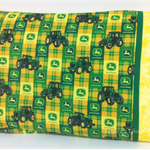 Tractor Pillowcase ~ OOAK ~ Green/Yellow