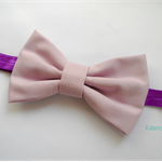 Classic Lavender bow stretch headband