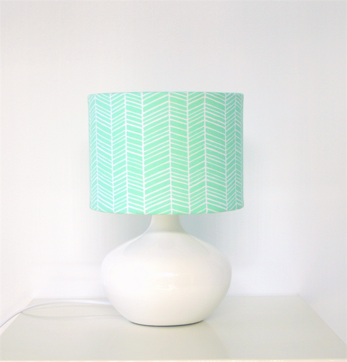 Mint green herringbone fabric table lampshade made in fabric mint green herringbone fabric table lampshade mozeypictures