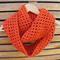 Burnt orange infinity crochet scarf