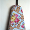Ironing Board Cover - blue floral big flowers pink and yellow