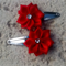 Cute Baby/Infant Red Flower Clips