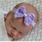 Lavender Bow Headband - Newborn
