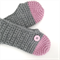 READY TO POST Women's Crochet Slippers -Pale Pink -100% Wool- size Medium