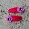 Cute Baby/Infant Pink Flower Clips