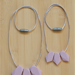 Silicone Necklaces -Daisy & Little Daisy in Lavender-PRICE DROPPED!!