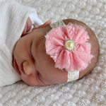 Newborn Headband - pink flower