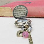 Jane Eyre Watch Necklace Vintage Pocket Deer Woodland Customised