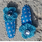 Cute Baby/Infant Blue Flower Clips