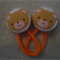 23mm Teddy fabric button hairties
