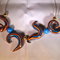 Orange and blue pods