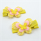 Butterfly Hair Clip Pair - yellow & pink