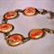 Silver and burnt orange bracelet