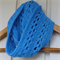 crochet infinity scarf | unisex | bright blue baby shower gift 3 months - 2+ yrs