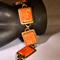 Gold and metal bracelet