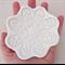 White flower porcelain ring holder, jewellery holder. Ceramic bowl.