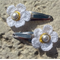 Cute Baby/Infant White Daisy Flower Clips