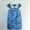 All Seasons dress/tunic light weight chambray tie dye blue floral collar 3-4 yr