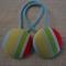 Stripy fabric button hairties