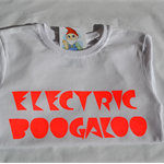 ELECTRIC BOOGALOO orange neon hand screen printed tee - Size 4