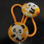 23mm Panda fabric button hairties