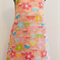 Girls flowered patterned pinafore dress