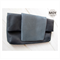 Black Leather and Grey Snakeskin foldover clutch