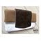 Mocha & White Leather foldover clutch with Bronze snakeskin