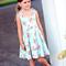 girls dress - sky blue floral party dress