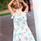 girls dress - sky blue floral party dress