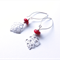 Geo red and silver earrings by Sasha+Max Studio
