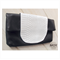 Black Leather and white Snakeskin foldover clutch
