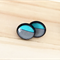 BLACK and Turquoise Stripe Resin Stud Earrings