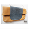 Toffee Leather and Grey Snakeskin foldover clutch