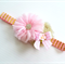 Pink and Gold Party Headband Chiffon Flower Headband Baby Girl Birthday
