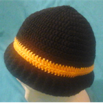 Crocheted Black and Yellow