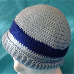 Crocheted Pale Blue and Royal Blue