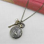 Pride and Prejudice Watch Necklace Vintage Pocket Deer Woodland Customised