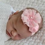 Pink Newborn Headband