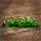 Eco Resin emerald green and gold flake faceted stacking ring